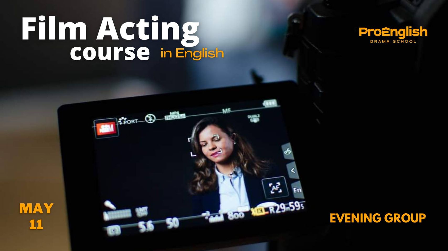news - 11.05.2021 – Film Acting Course in English|Evening course